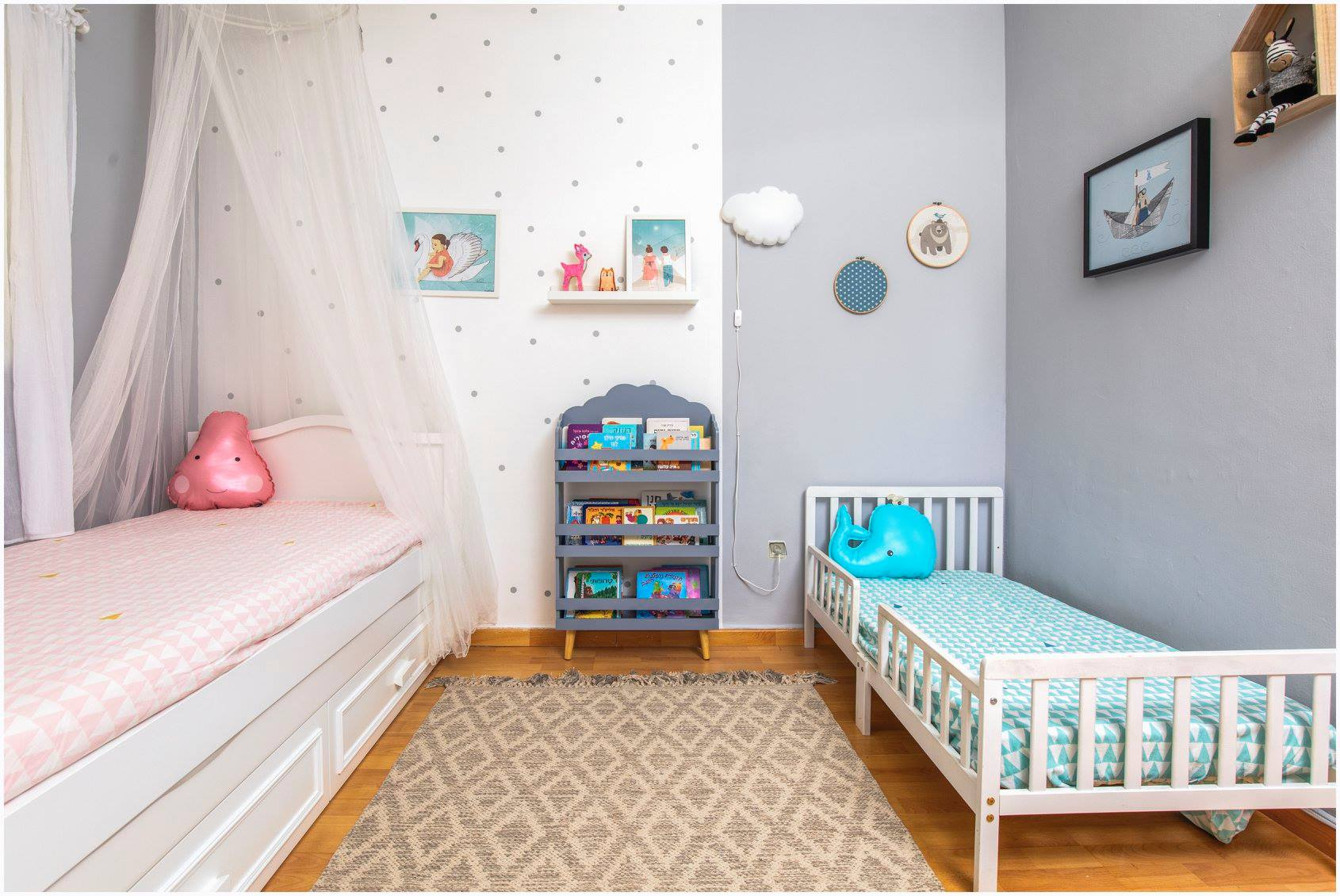 עיצוב חדר ילדים עפרי ורואי 05