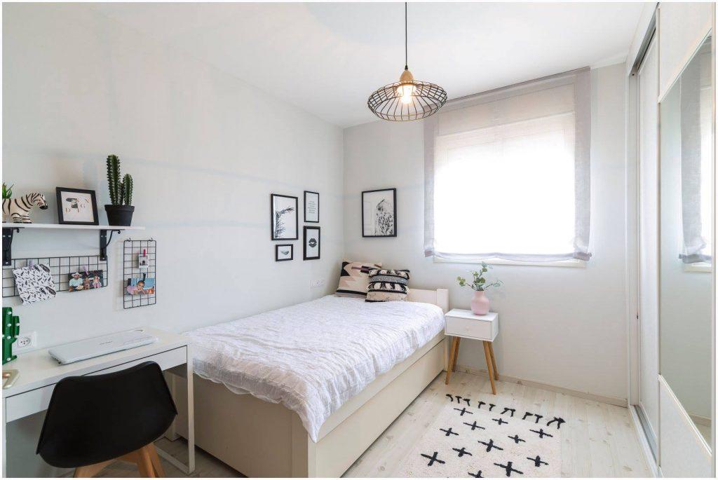 עיצוב חדר ילדות בצבע לבן ירוק - החדר של רומי