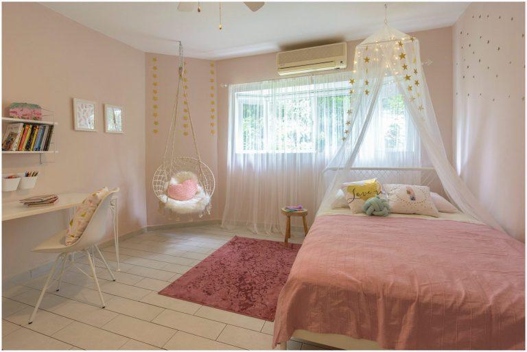 עיצוב חדר ילדים בצבע ורוד - החדר של ארבל