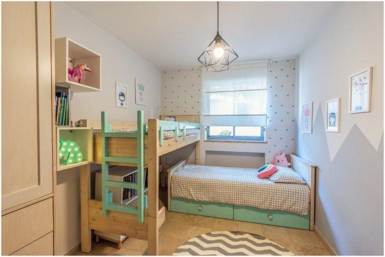 עיצוב חדר משותף לבן ובת